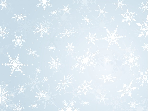 Snowflake background Free Vector
