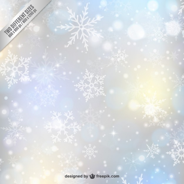 Snowflake blurry ornament Premium Vector