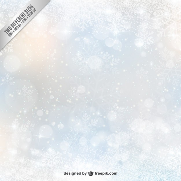 snowflake bokeh decoration Free Vector