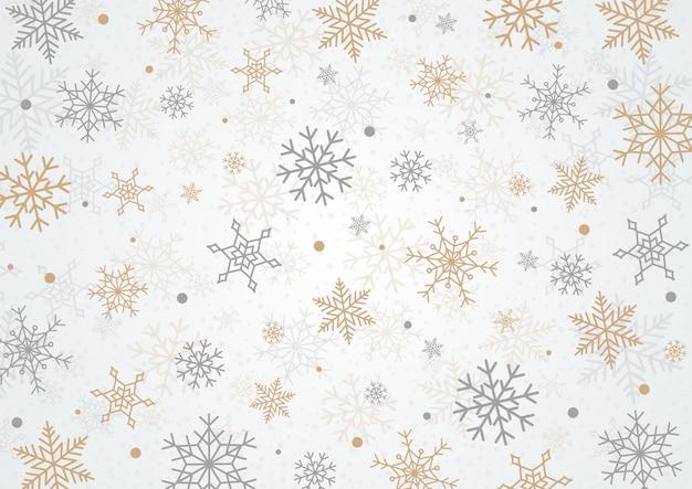 Snowflake christmas background Premium Vector