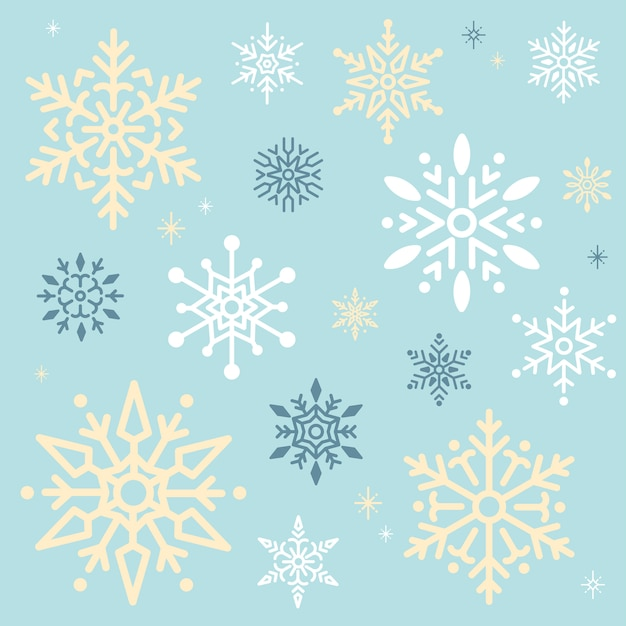 Snowflake christmas design background vector Free Vector