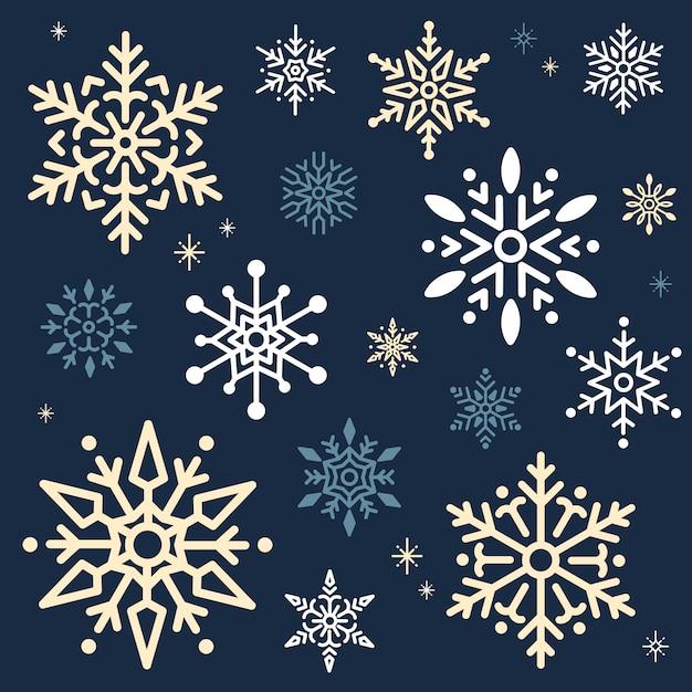 Snowflake christmas design background vector Free Vector