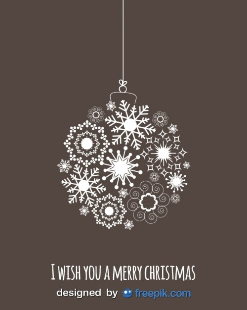Snowflake hanging by a thread Free Vector