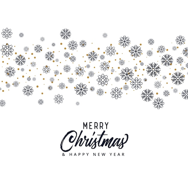 Snowflake pattern for merry christmas season Free Vector