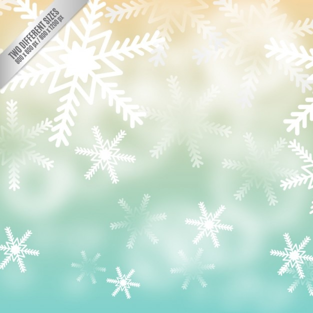 Snowflakes background in gradient style Premium Vector