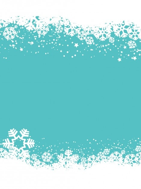 snowflakes blue christmas background free vector - Blue Christmas Background
