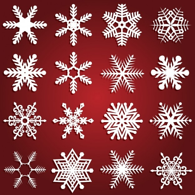 Snowflakes Design Collection Vector Free Download