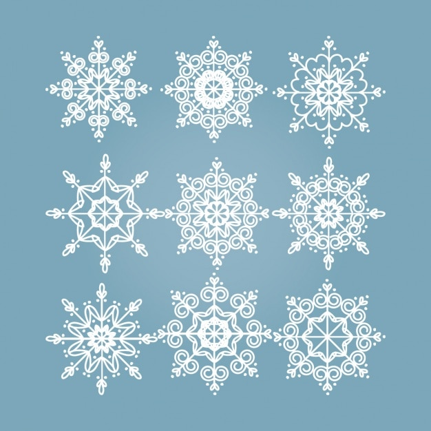 snowflakes designs collection free vector