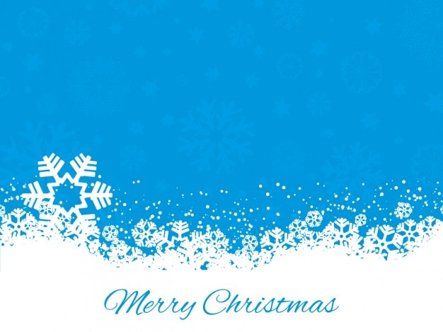 Snowflakes on a blue christmas background Vector | Free Download