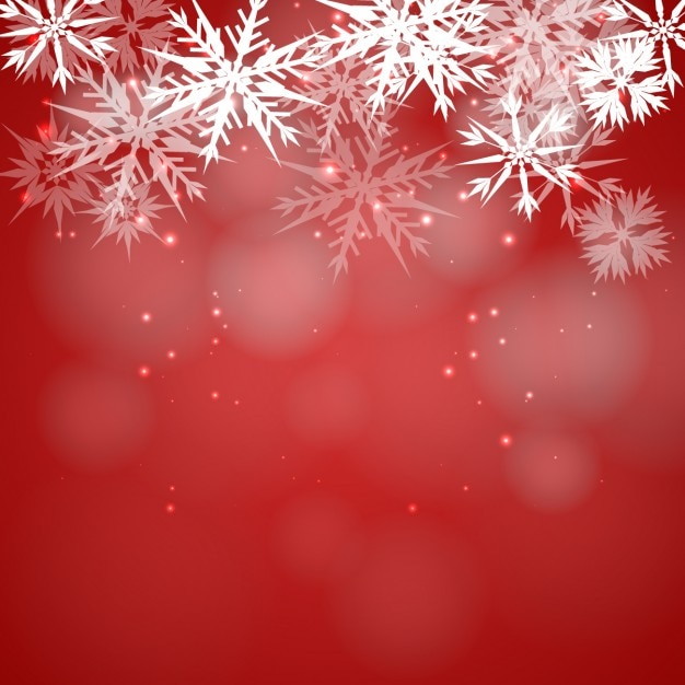 Red snowflakes wallpaper
