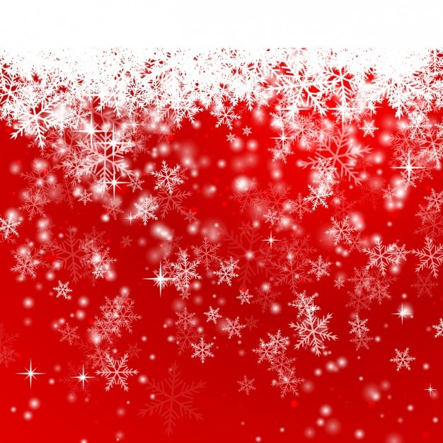 Snowflakes on a red christmas background vector free