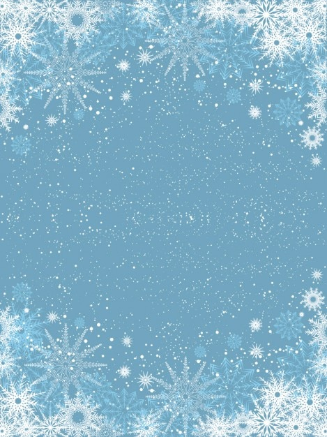snowflakes on light blue background vector free download