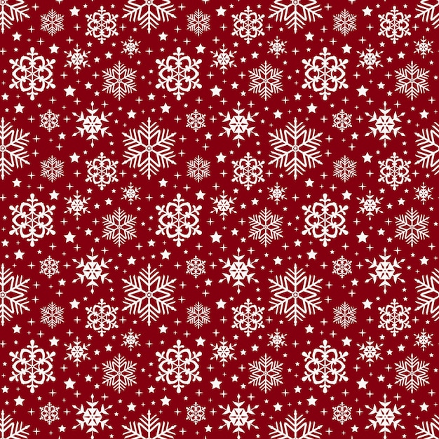 Snowflakes pattern. vector seamless background. Premium Vector