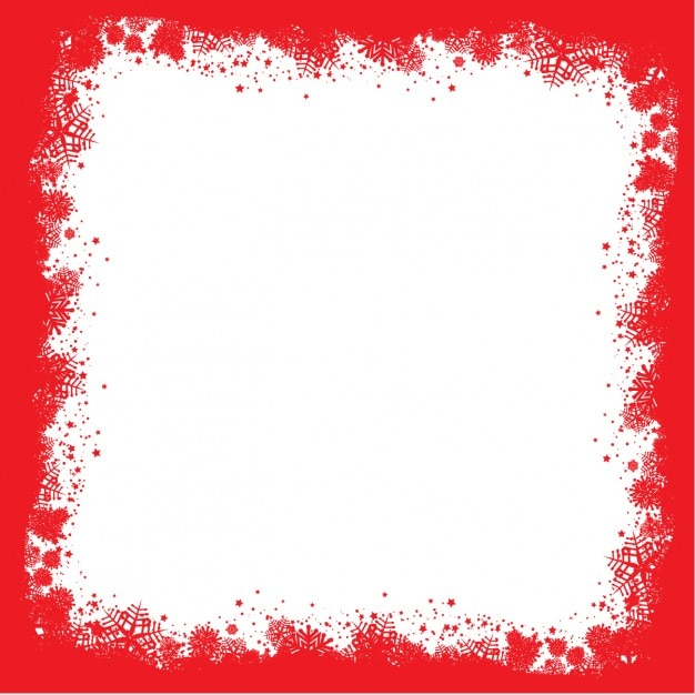 Snowflakes red frame Vector | Free Download
