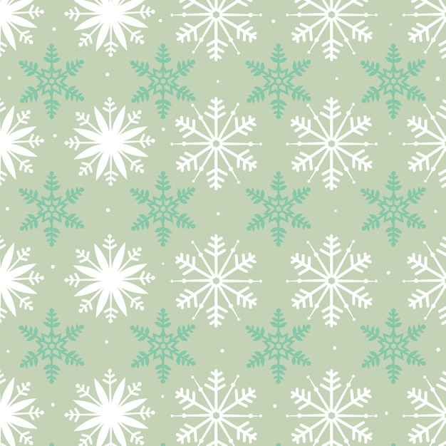 Snowflakes seamless pattern Free Vector