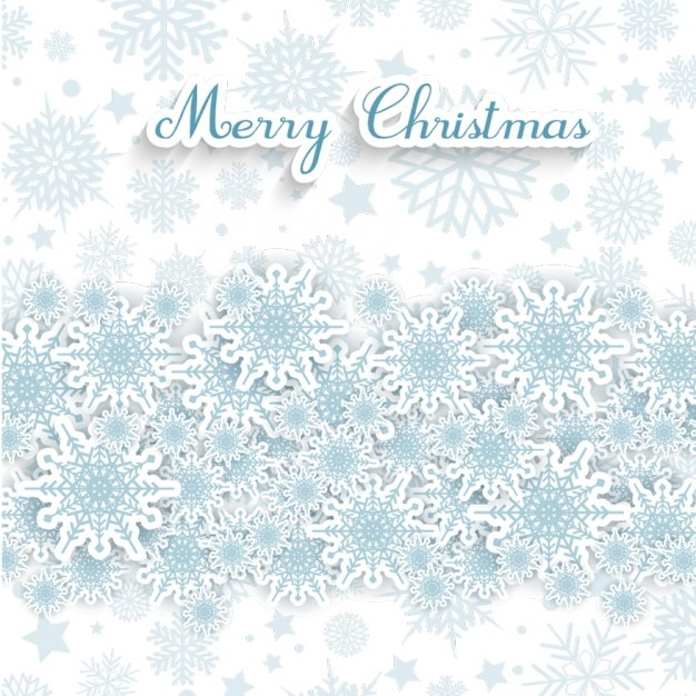 Snowflakes On A White Christmas Background Vector Free