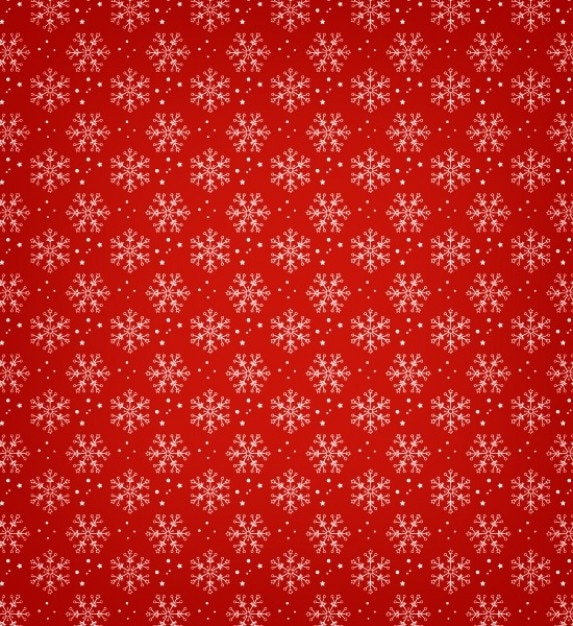 Snowflakes with RedGreen Background