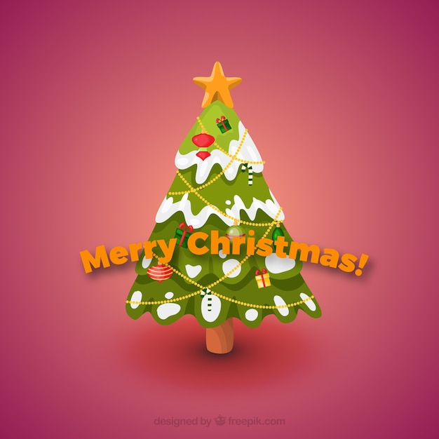 snowing christmas card free vector
