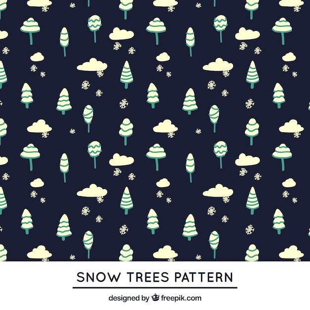 Snowing trees pattern