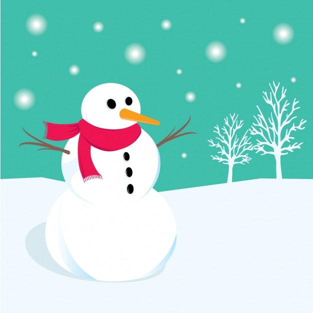 Snowman background design