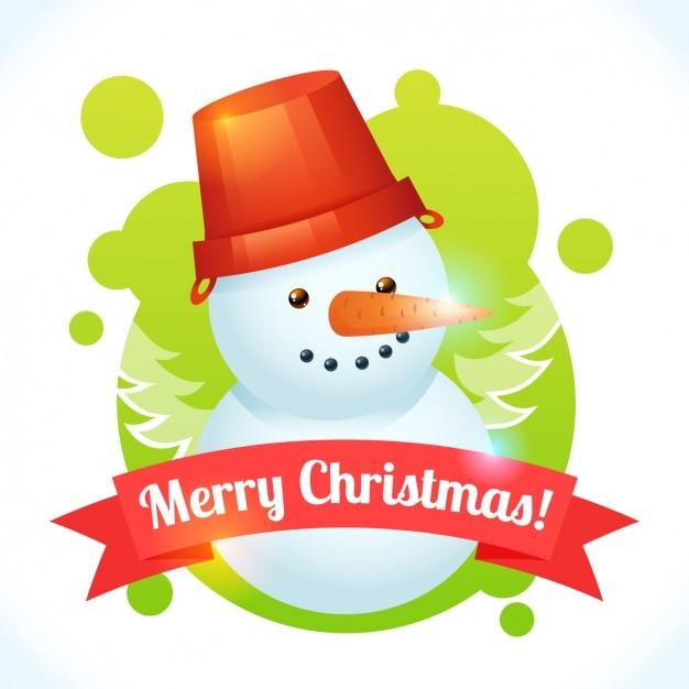 Snowman background design Free Vector
