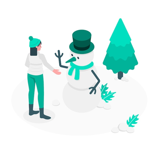 Snowman concept illustration Free Vector