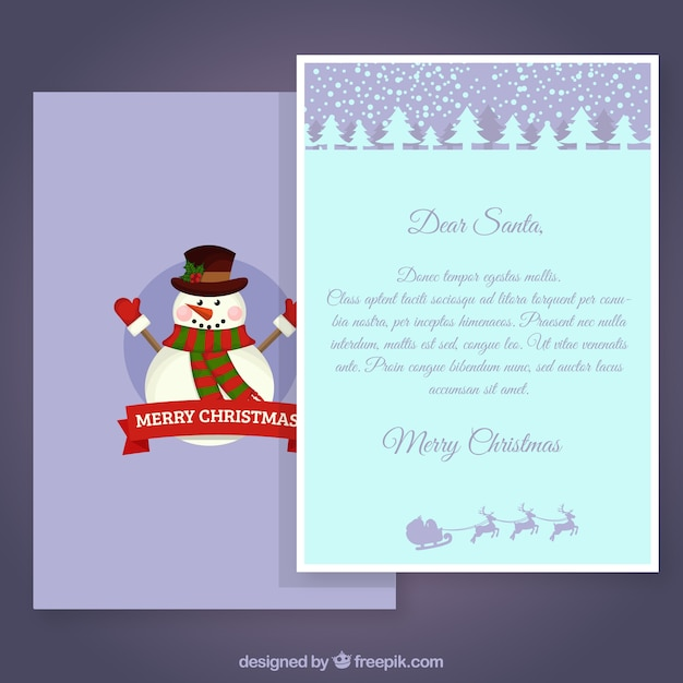 Snowman Letter Template Vector Free Download