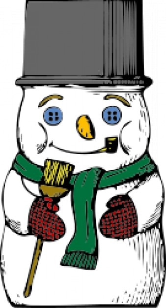 Snowman with hat cartoon