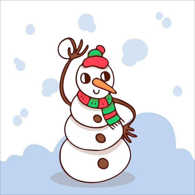 Snowman Premium Vector