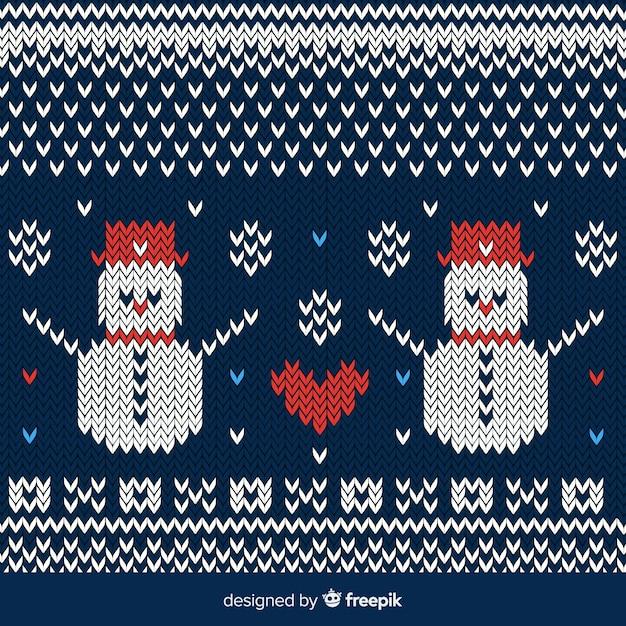 Snowmen background Free Vector