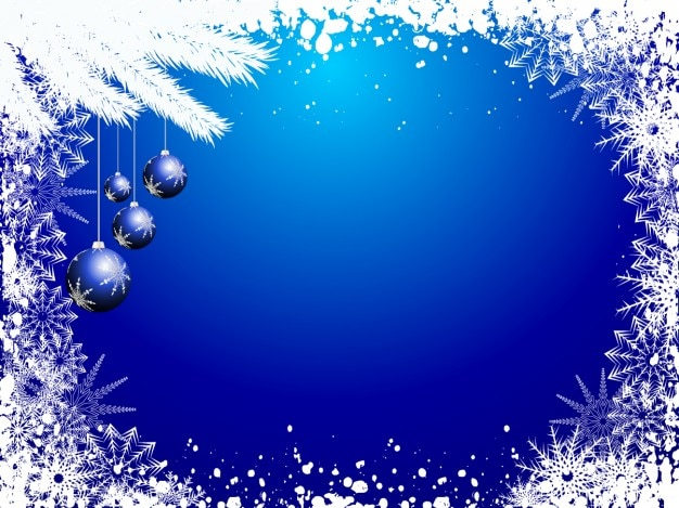 20+ Blue Christmas Background Free