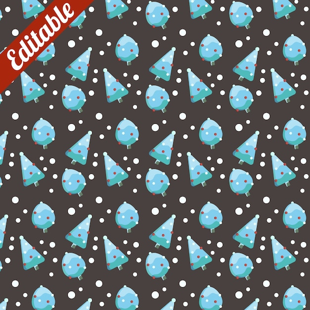 Snowy Blue Ice Cream Pine Tree Pattern Vector Premium Download Extraordinary Ice Pattern