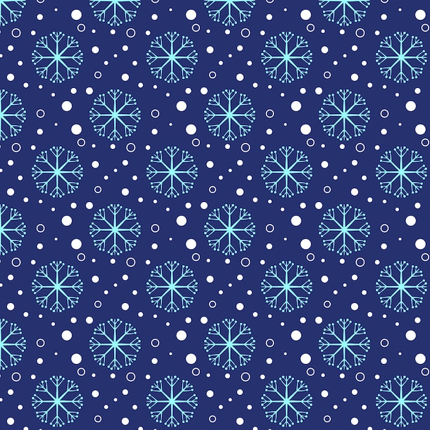 Snowy Blue Snowflake Pattern Background Wallpaper Texture Premium Vector