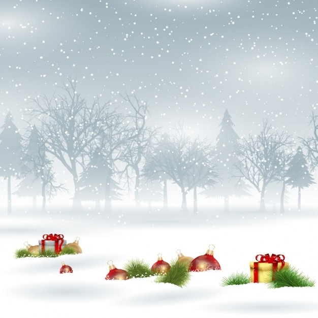 snowy christmas background vector free download