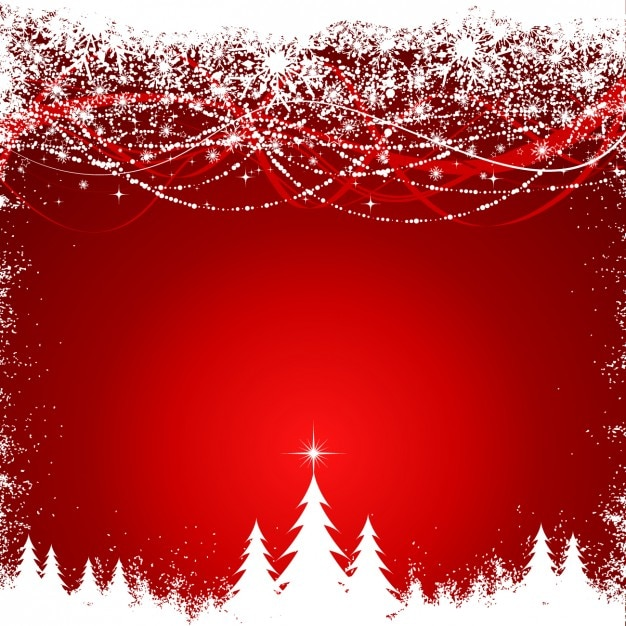Snowy christmas forest background
