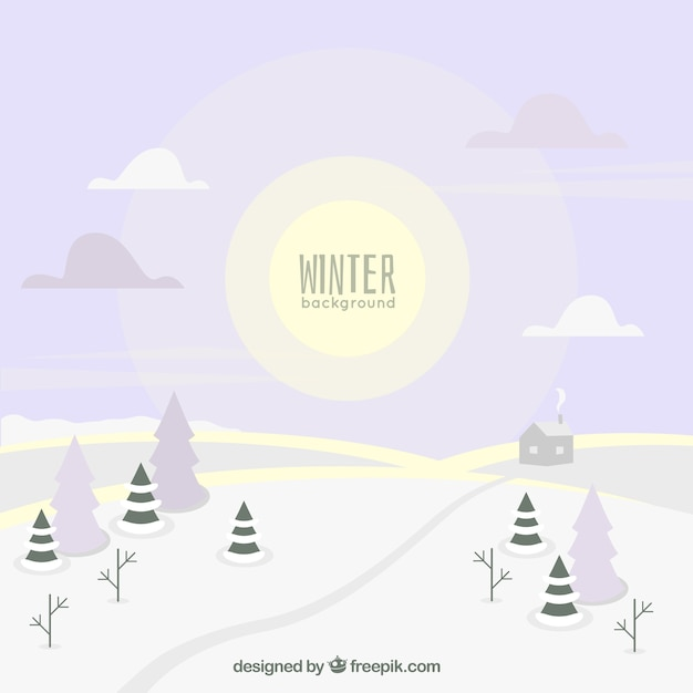 Snowy landscape background