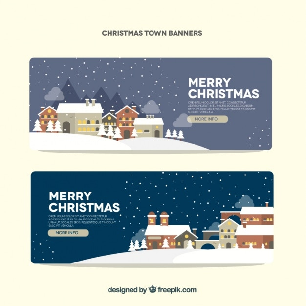 Snowy landscape banners