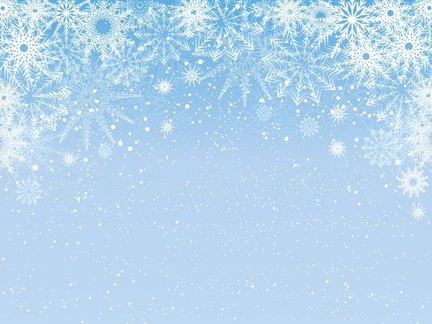 snowy light blue background vector free download