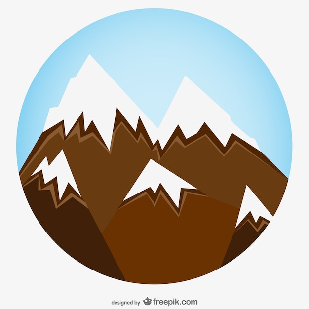 Snowy mountain zoom art