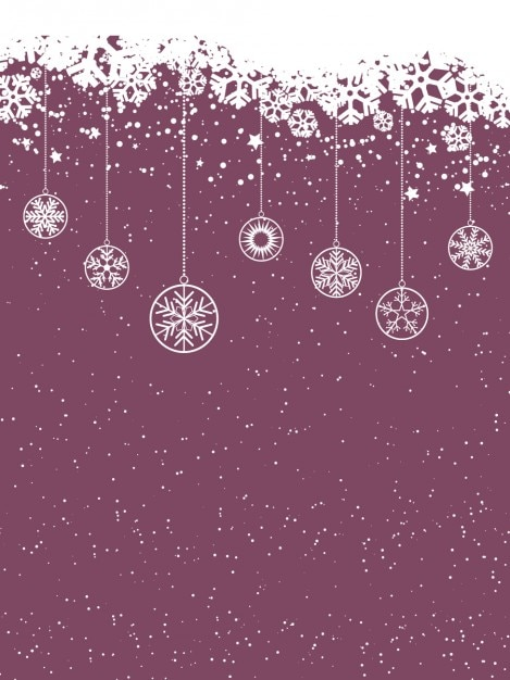 snowy purple christmas background vector free download