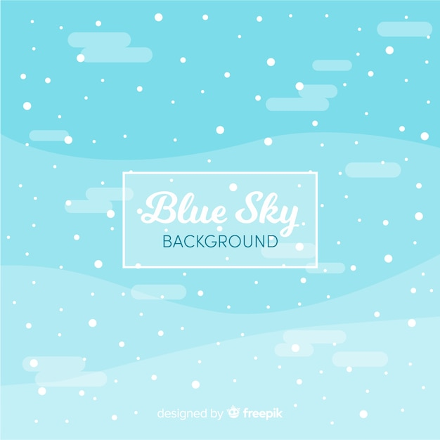 Snowy sky background Free Vector