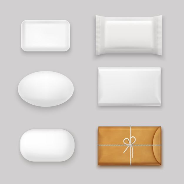 Soap bars set Free Vector