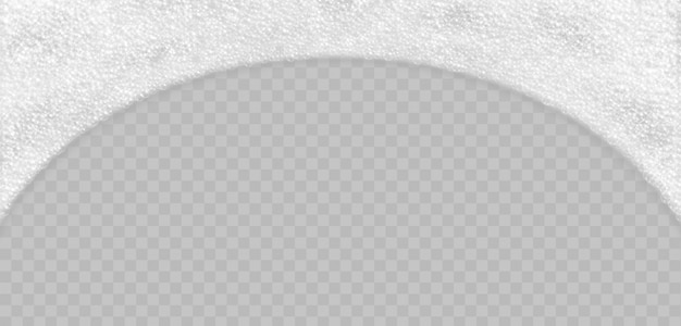 Soap foam with bubbles top view isolated. sparkling shampoo and bath lather realistic vector illustration. Premium Vector