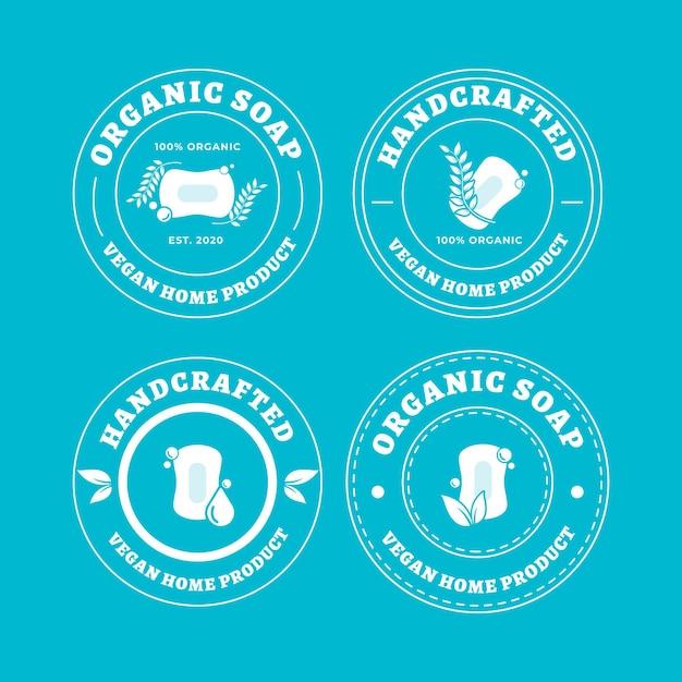 石鹸のロゴコレクション Premiumベクター