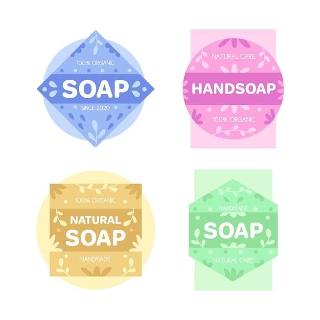 石鹸のロゴテンプレートコレクション 無料ベクター