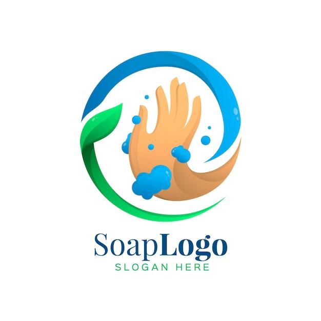 石鹸のロゴのテンプレート 無料ベクター