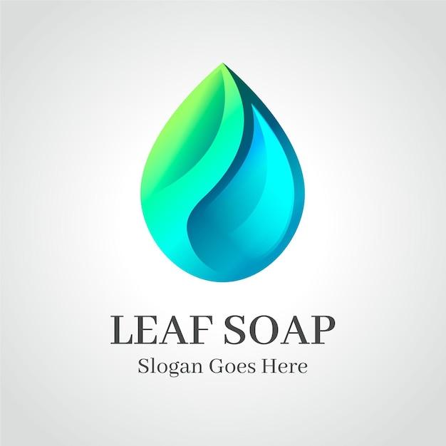 Modello di logo di sapone Vettore gratuito