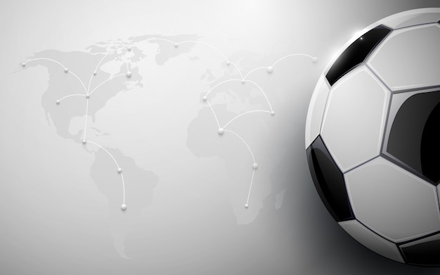 Soccer ball and world map connection background vector premium soccer ball and world map connection background premium vector gumiabroncs Gallery
