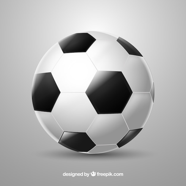 Soccer ball background in realistic\ style