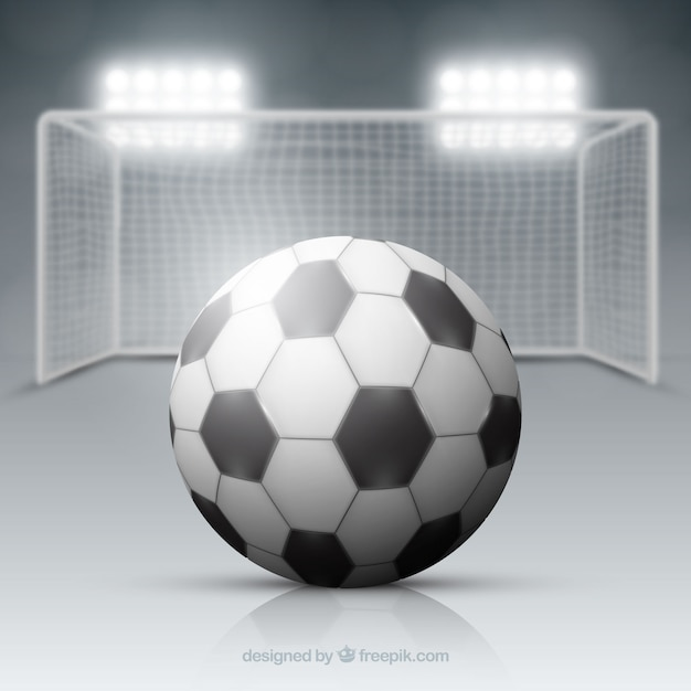 Soccer ball background with field in realistic\ style